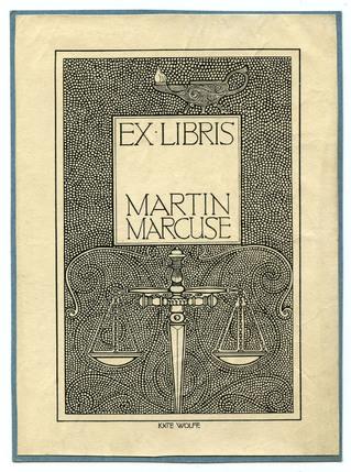 Exlibris Martin Marcuse