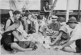 Am Strand im Freibad Wannsee