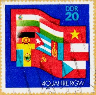 """Briefmarke der Deutschen Post der DDR """"40 Jahre RGW"""""""