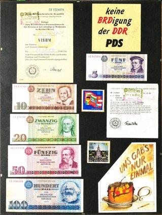 Collage zur Wendezeit in Berlin