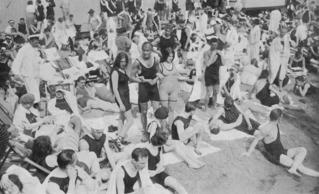 Massenbesuch im Familienbad Wannsee